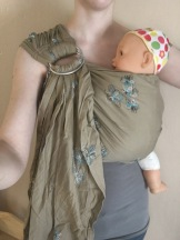 Kelsey Sandeno‎Iowa City Babywearers 5 hrs · DIY Ring Sling. SBP pleated shoulder. $25.