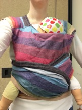 DIY Wrap Conversion made from Girasol Symphou Fuschia Weft. Infant/standard size. $100